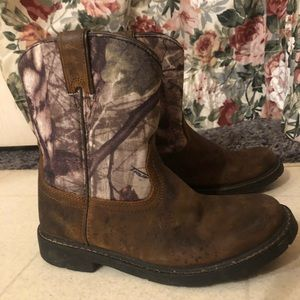 Ariat boots with camo print